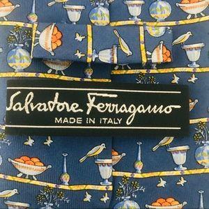 Salvatore Ferragamo Silk Tie: Still Portrait Print